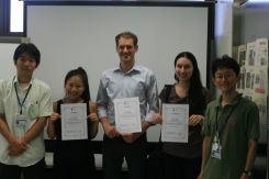 At the end of the week-long seminar, we receive certificates. It was a truly unforgettable experience.